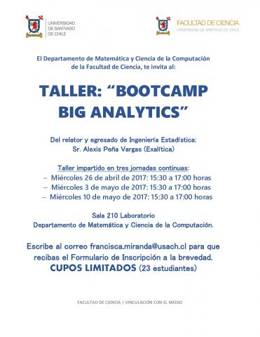 afiche taller bootcamp version vertical